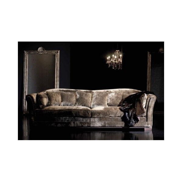 Imperial Upholstered Button Nail Plush Natural Sofa