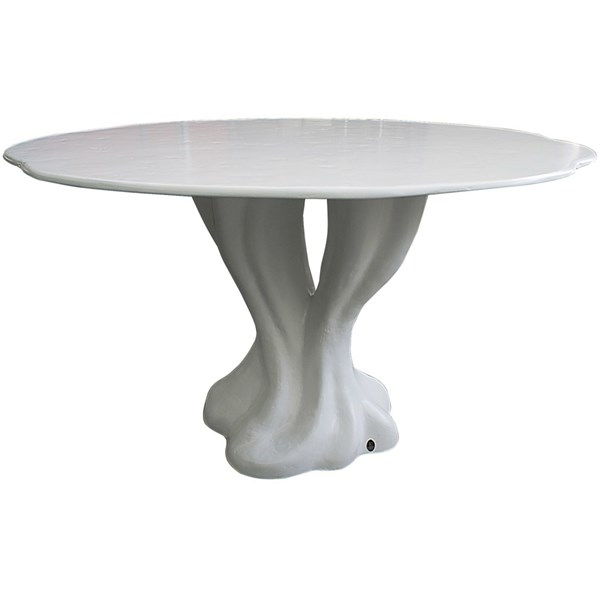 Impress Spirit Outdoor White Lacquered Fibreglass Round Dining Table
