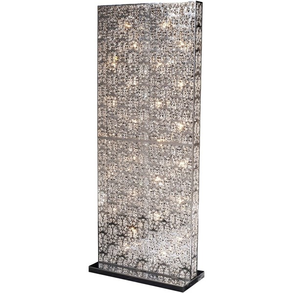Italian LED Asfour ( Swarovski ) crystal floor screen lamp