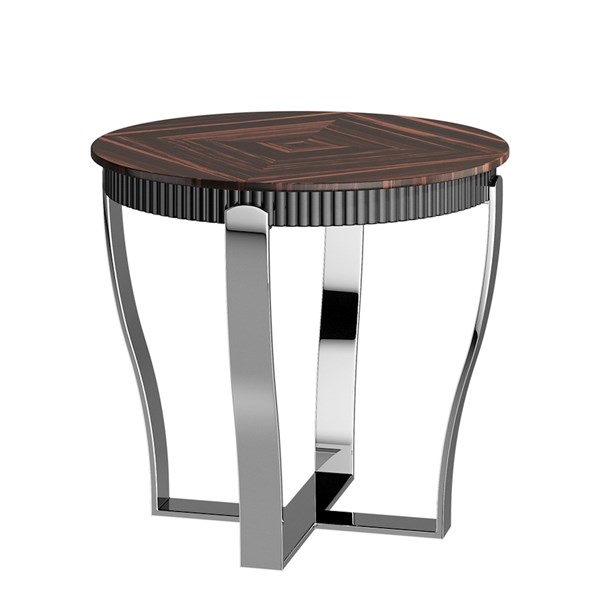 Polished Chrome Kaspar Side Table