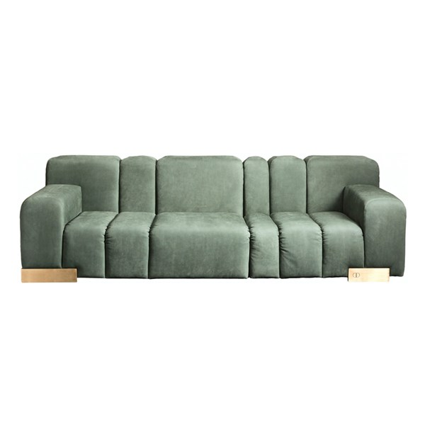 Touched D Contoured Burnished Brass Leica Sofa