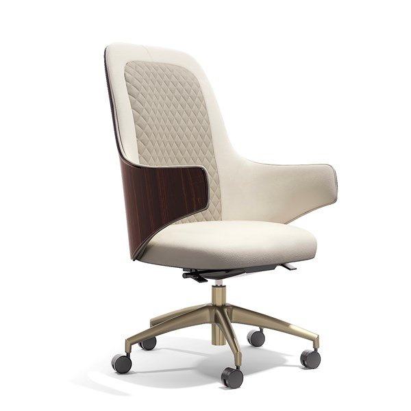 Italian Quilted Lima Superior Office Armchair