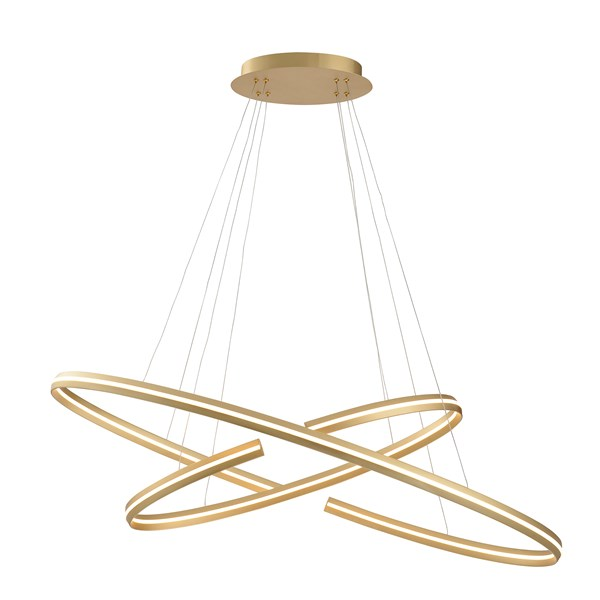 Brushed Gold Luna Pendant Light