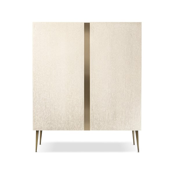 Lusso Wooden & Brass Bar Cabinet