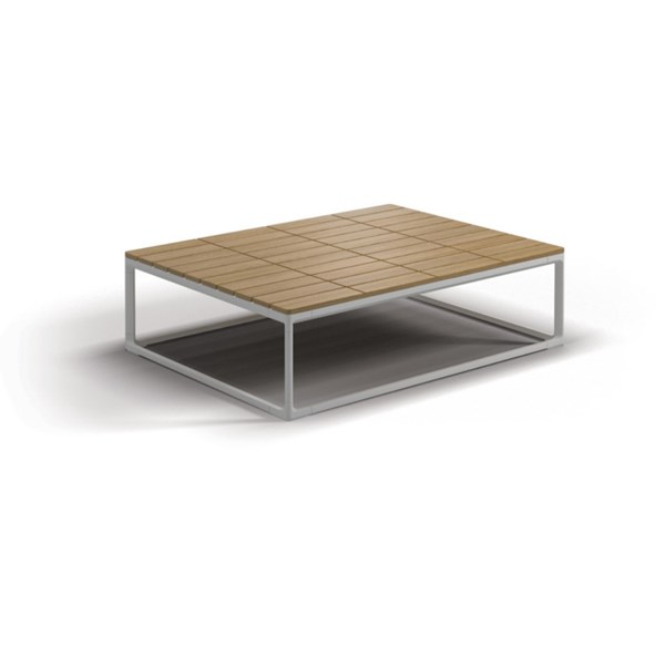 Luxe Buffed Teak Outdoor Coffee Table