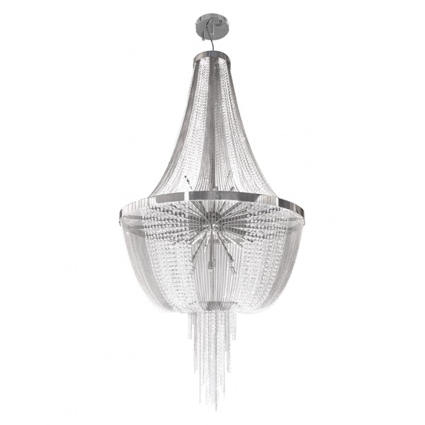 Luxo Suspension Light with Swarovski Crystals