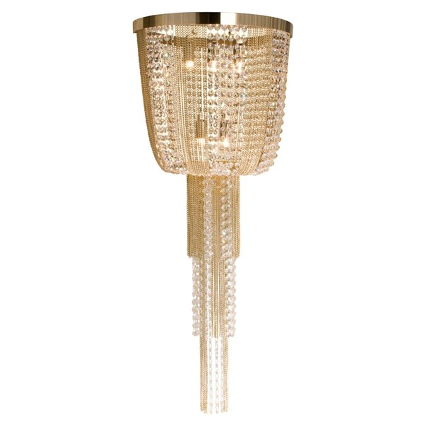 Luxo Wall Lamp With Swarovski Crystals
