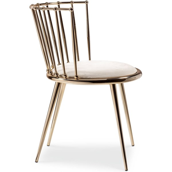 Luxury Curved Golden Dining Chair