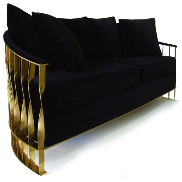 Luxury Gold and Silver Sofa