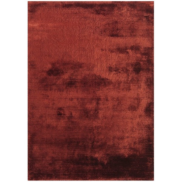Luxury hand woven light reflecting red rug