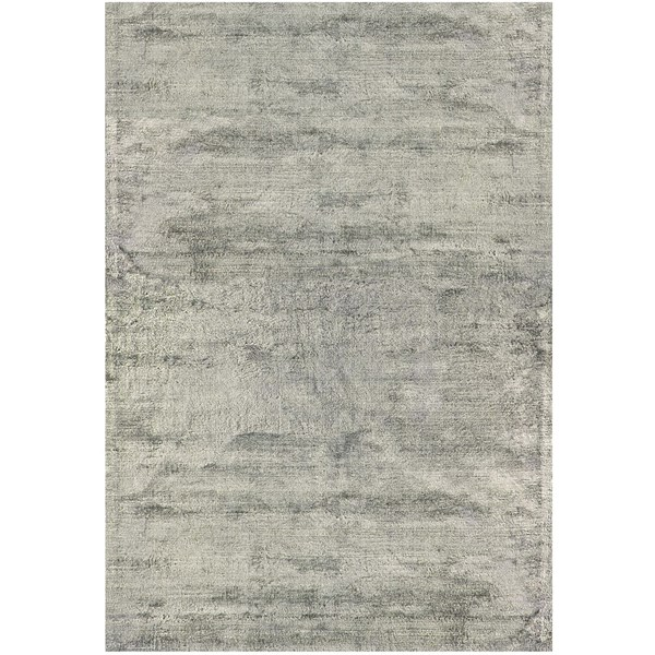 Luxury hand woven light reflecting silver rug