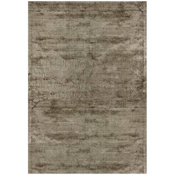 Luxury hand woven light reflecting taupe rug