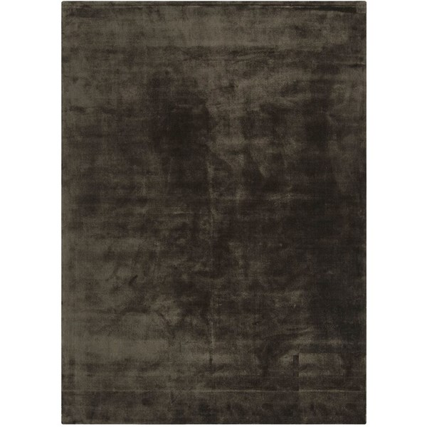 Luxury silky smooth deep pile charcoal rug