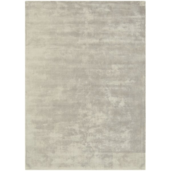 Luxury silky smooth deep pile silver rug