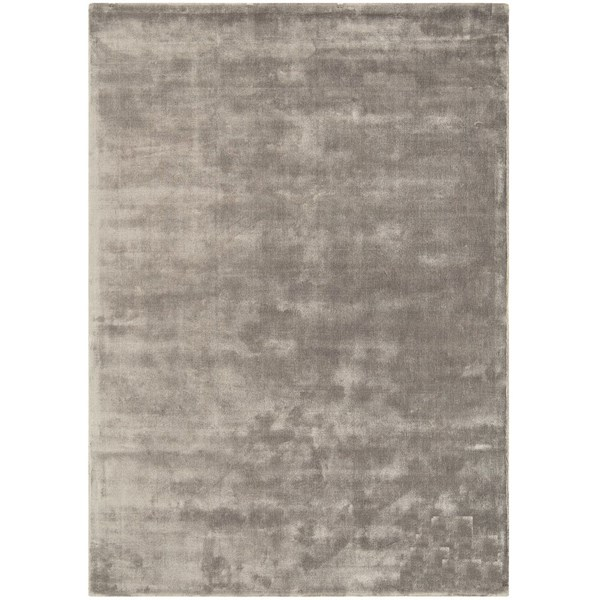 Luxury silky smooth deep pile taupe rug