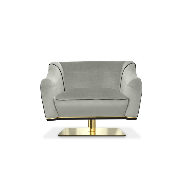 MacAlister Luxury Swivel Chair with Diamond Stitching