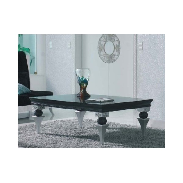 Magnus Black And Silver Leaf Coffee Table