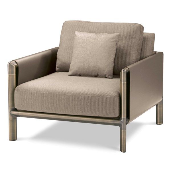Meera Burnished Brass Armchair