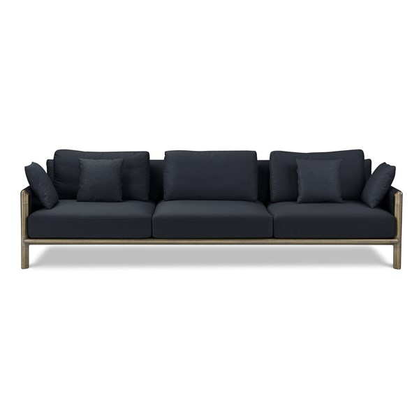 Meera Burnished Brass Sofa With Armrest