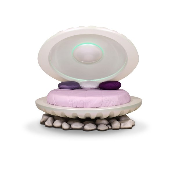 Mermaid Shell Bed with Colour-Changing Lighting