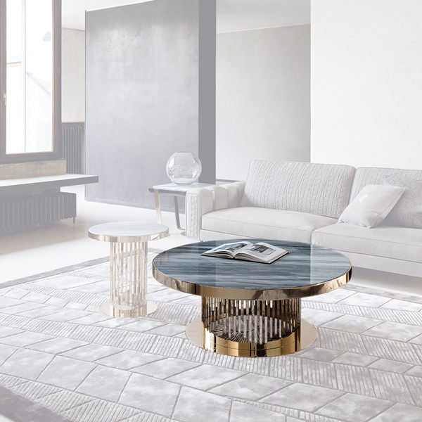 Milena Coffee Table With Marble Top