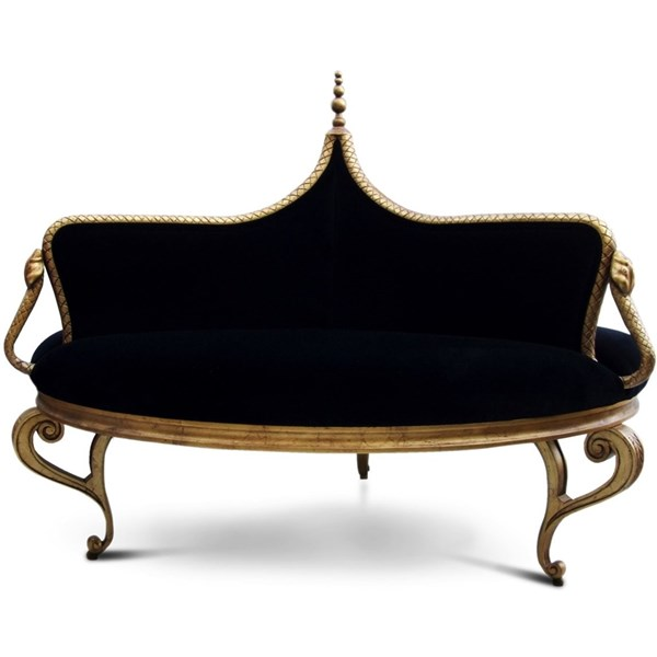 The seductive round banquette sofa