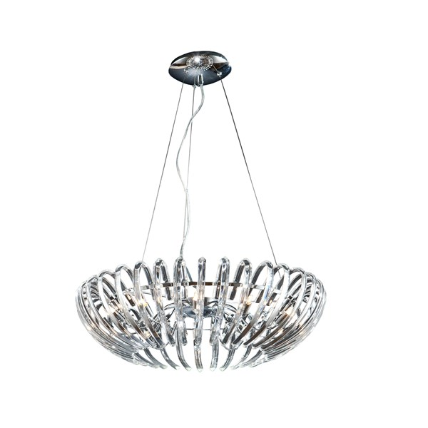 Curved Glass Crystals Molene Pendant Light