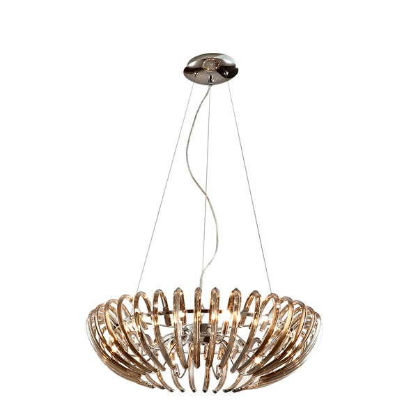 Curved Champagne Glass Crystals Molene Pendant Light