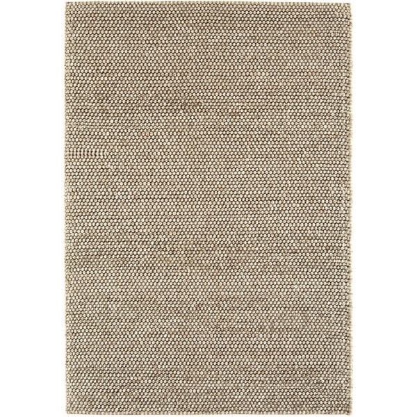 Natural Wool And Viscose Camel Rug