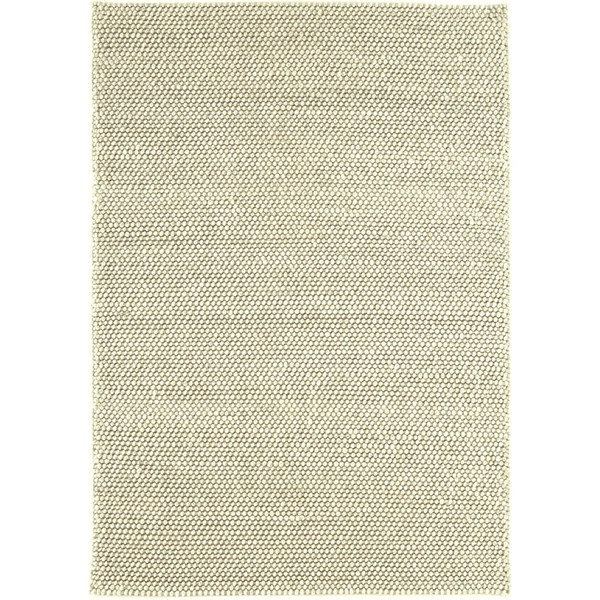 Natural Wool And Viscose Cream Rug