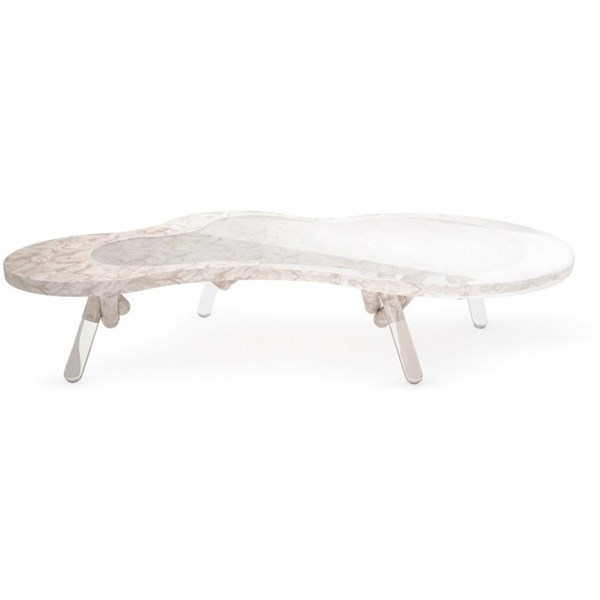 Nestle Marble And Clear Acrylic Outdoor Centre Table