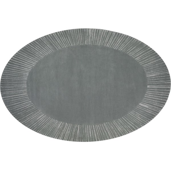New Zealand Wool And Lurex Oval Rug