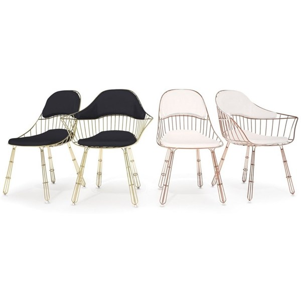 Nordic Outdoor Gold Plated Stainless Steel Mesh Dining Chair