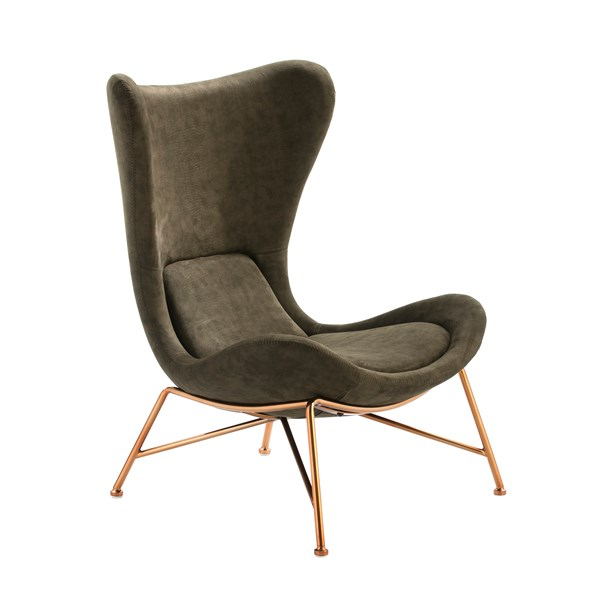 Polished Copper Olwen Armchair