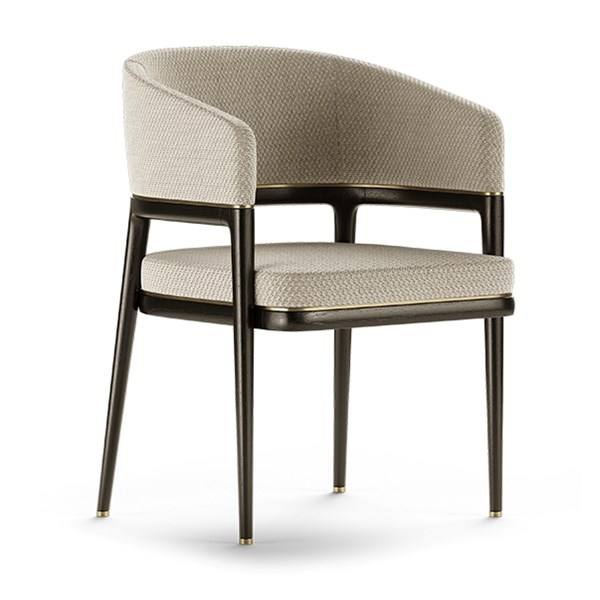 Orcus Dining Chair With Round Backrest