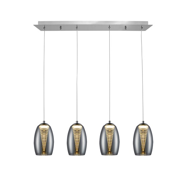 Chrome Glass Pavia Pendant Light