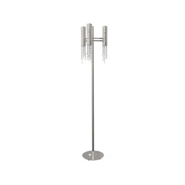 Penthouse Asfour Crystal Nickel 3 Bulb Floor Lamp