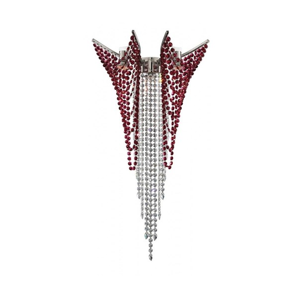 Penthouse Swarovski Bordeaux Crystal Wall Lamp Small