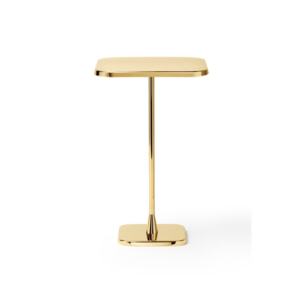Polished Gold Minimalista Square Side Table
