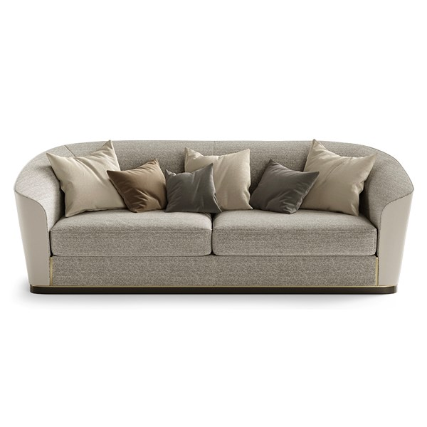 Luxury Pomona Sofa With Sloping Armrests