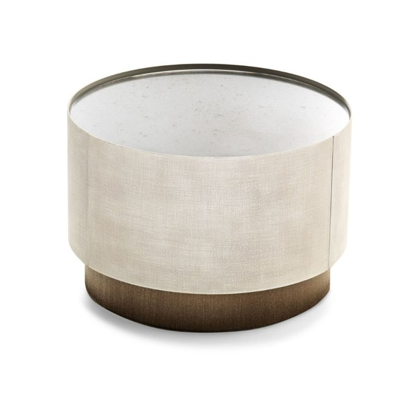 Raffinato Bedside Table with Bronzed Smoked Glass Top