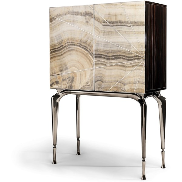 Redolence Italian Stainless Steel Lacquered & Marble Vanity Unit