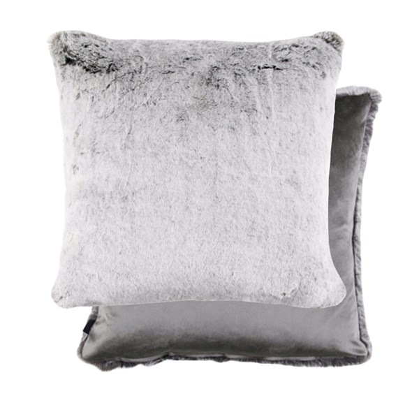 Rex Grey Fur Padded Cushion