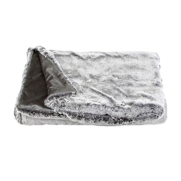 Rex Grey Fur Luxury Throw
