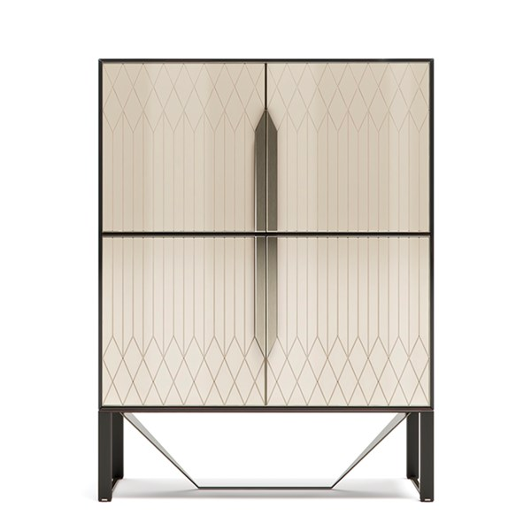 Italian Rocco Cabinet With Metal Detailing