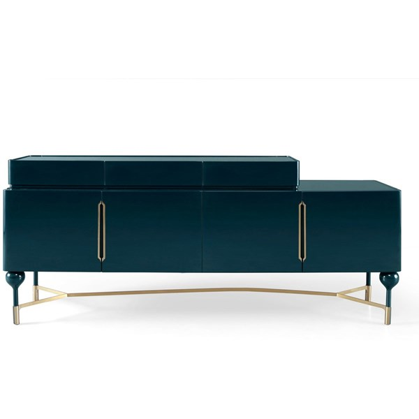 Salina Lacquered Patina Leafed Sideboard