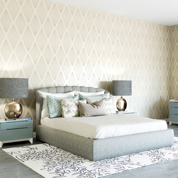Salina Upholstered Lacquered Bedstead