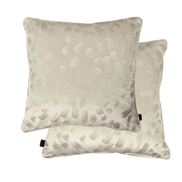 Sumptuous Light Velvet Foil Patterned Cushion