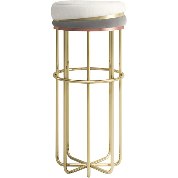 Polished Brass Thalia Bar Stool