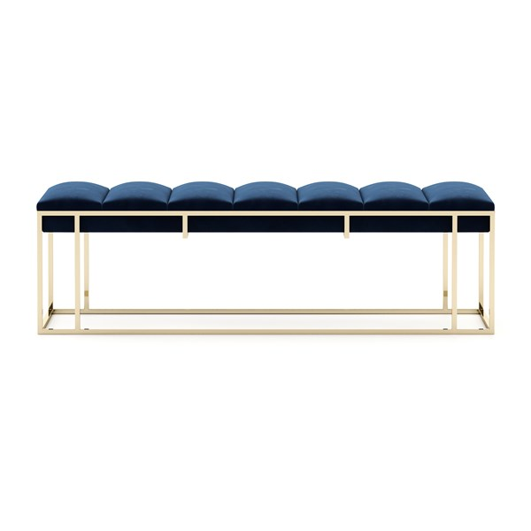 The Candace Polished Gold Steel Bench